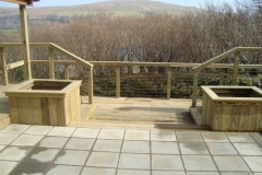 Commercial Decking Project, Lochaline Dive Centre, West Coast of Scotland.
