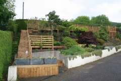 Timber terraced garden, N. Kessock